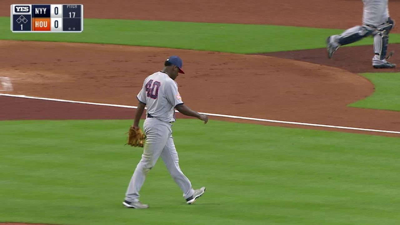 Severino, Yanks' bats struggle in loss to Astros