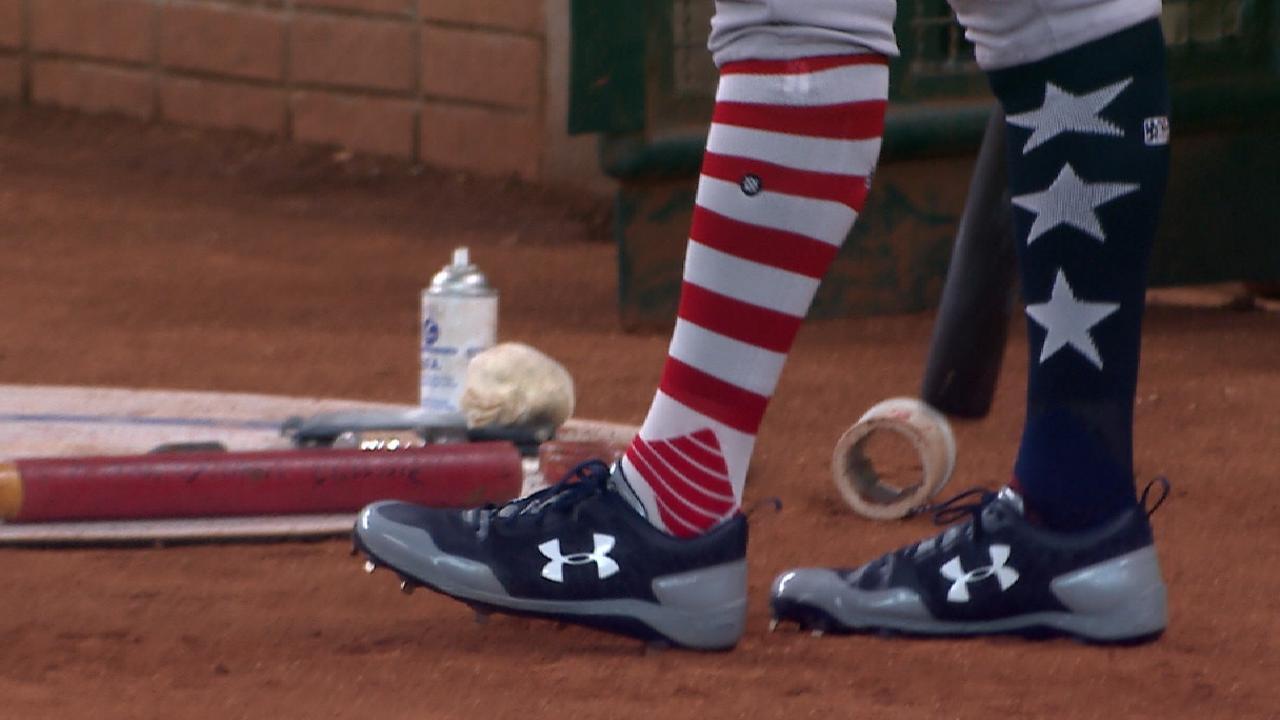 Judge's patriotic socks