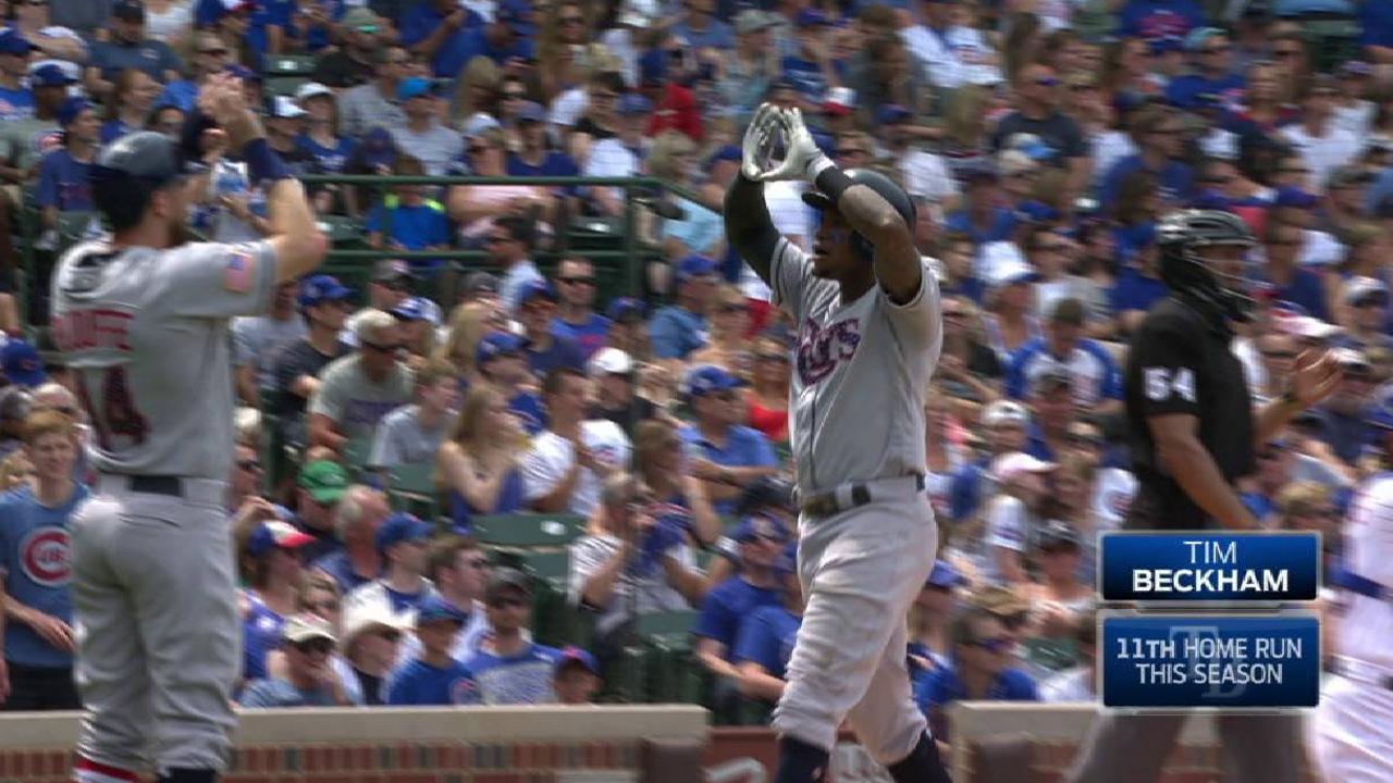 Beckham's bat, Archer's arm lift Rays past Cubs