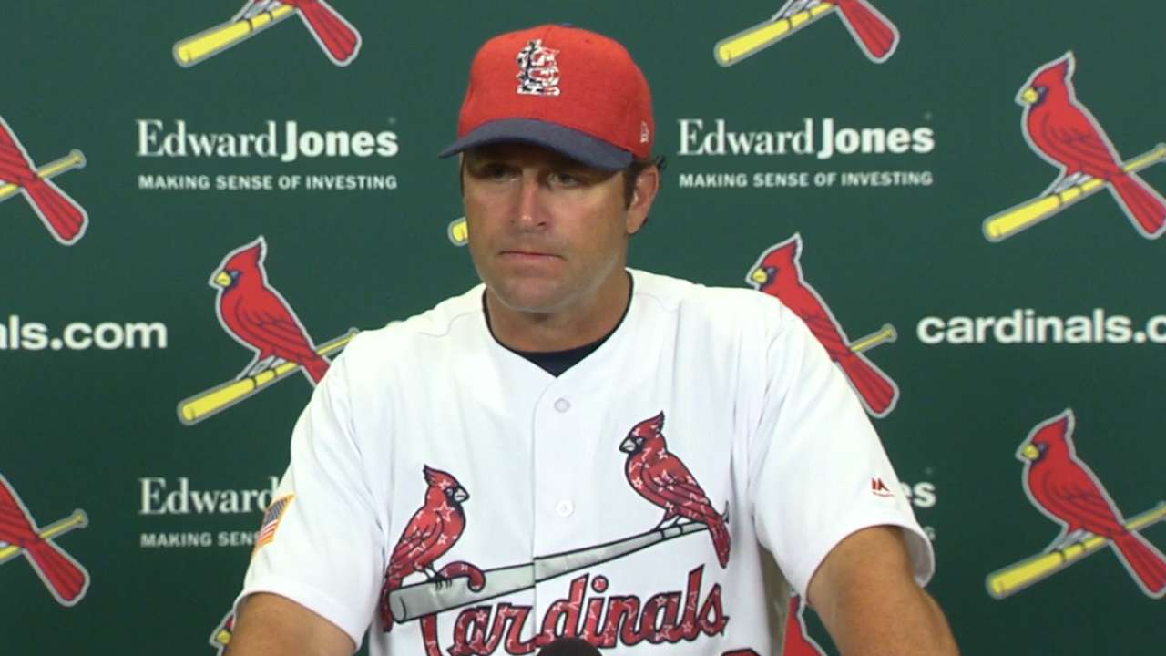 Matheny on strikeouts in loss