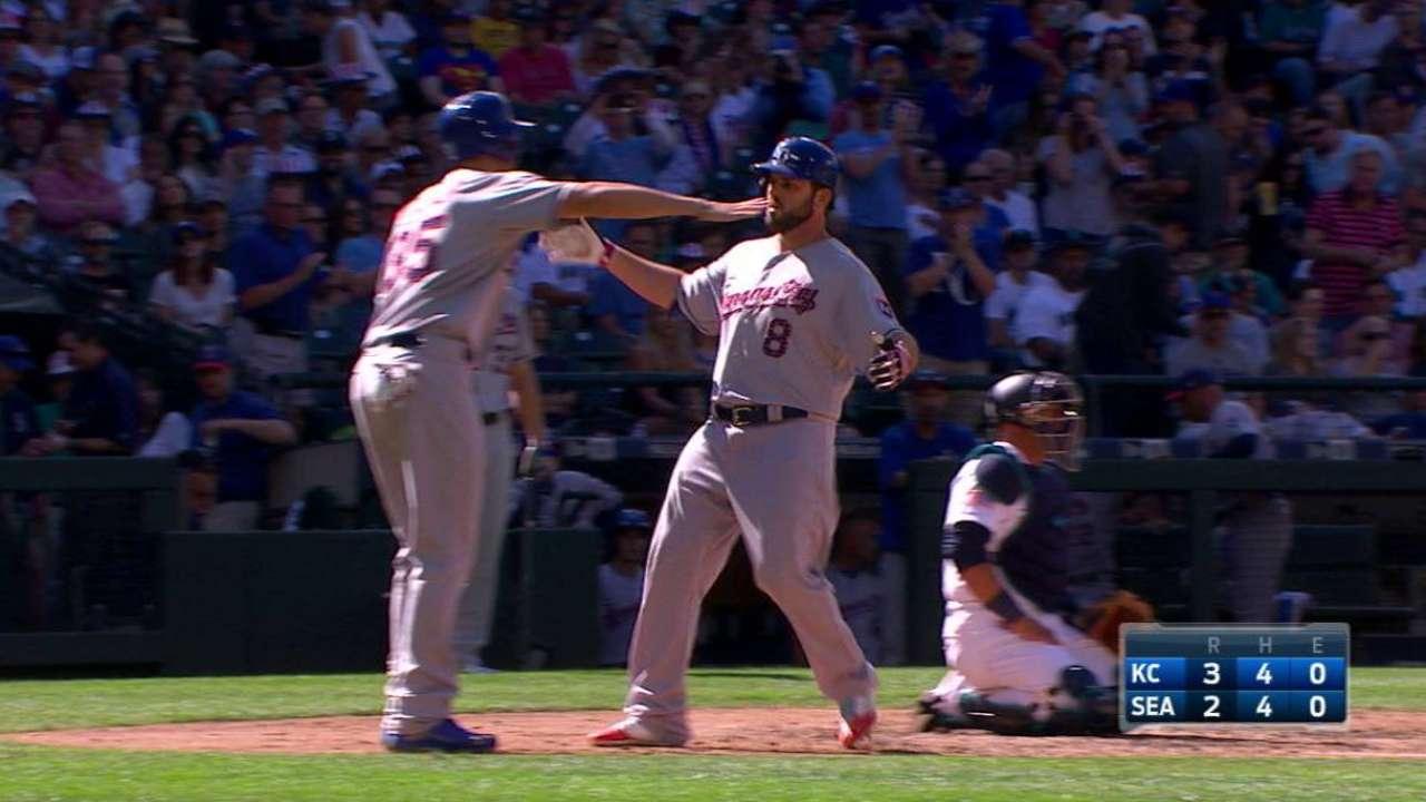 Moustakas' two-run homer