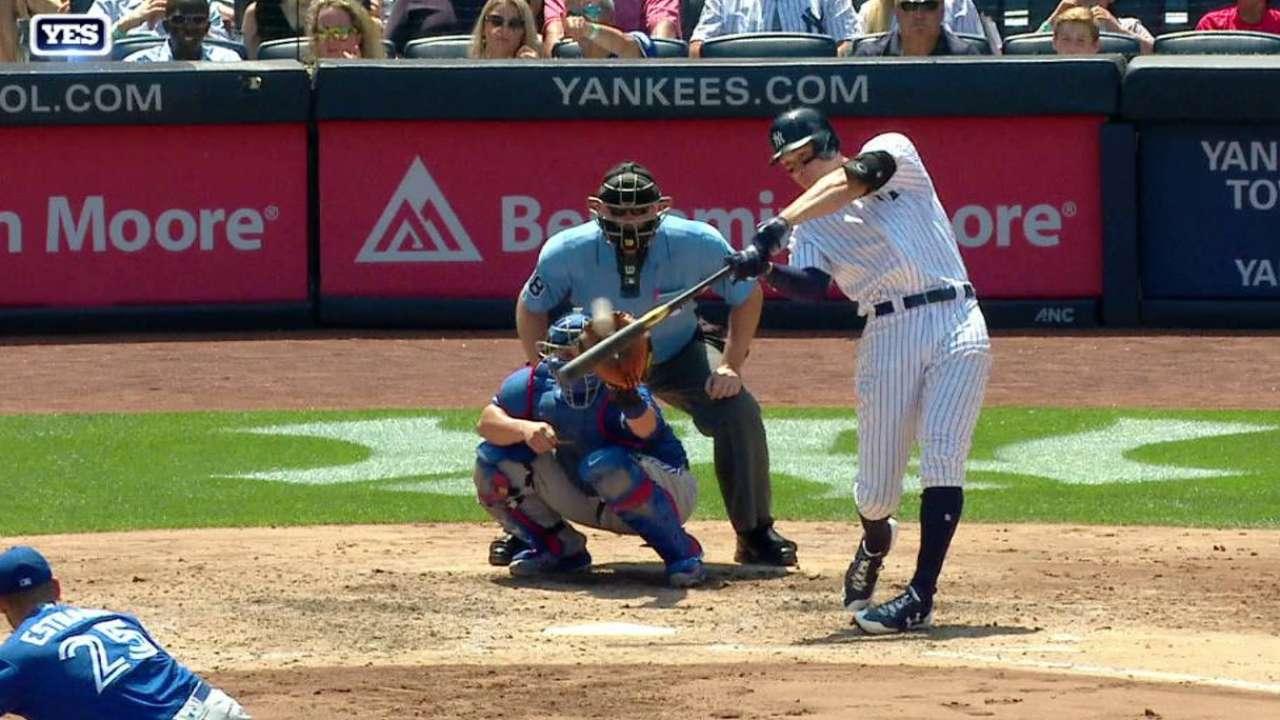 Aaron Judge empata una marca de jonrones de Joe DiMaggio en los Yankees