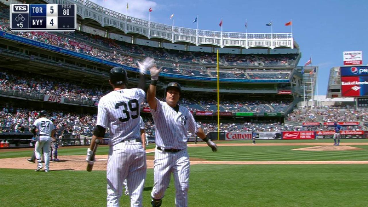 Choi hits first dinger as Yankee