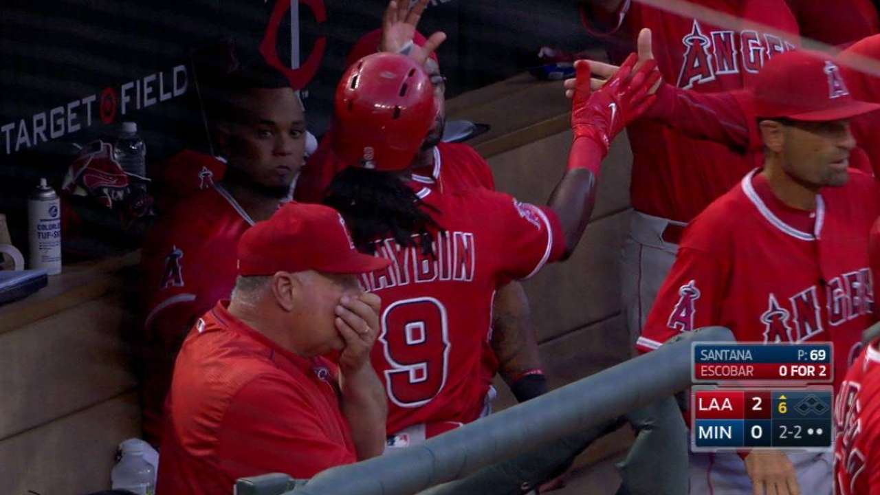Maybin scores on double steal