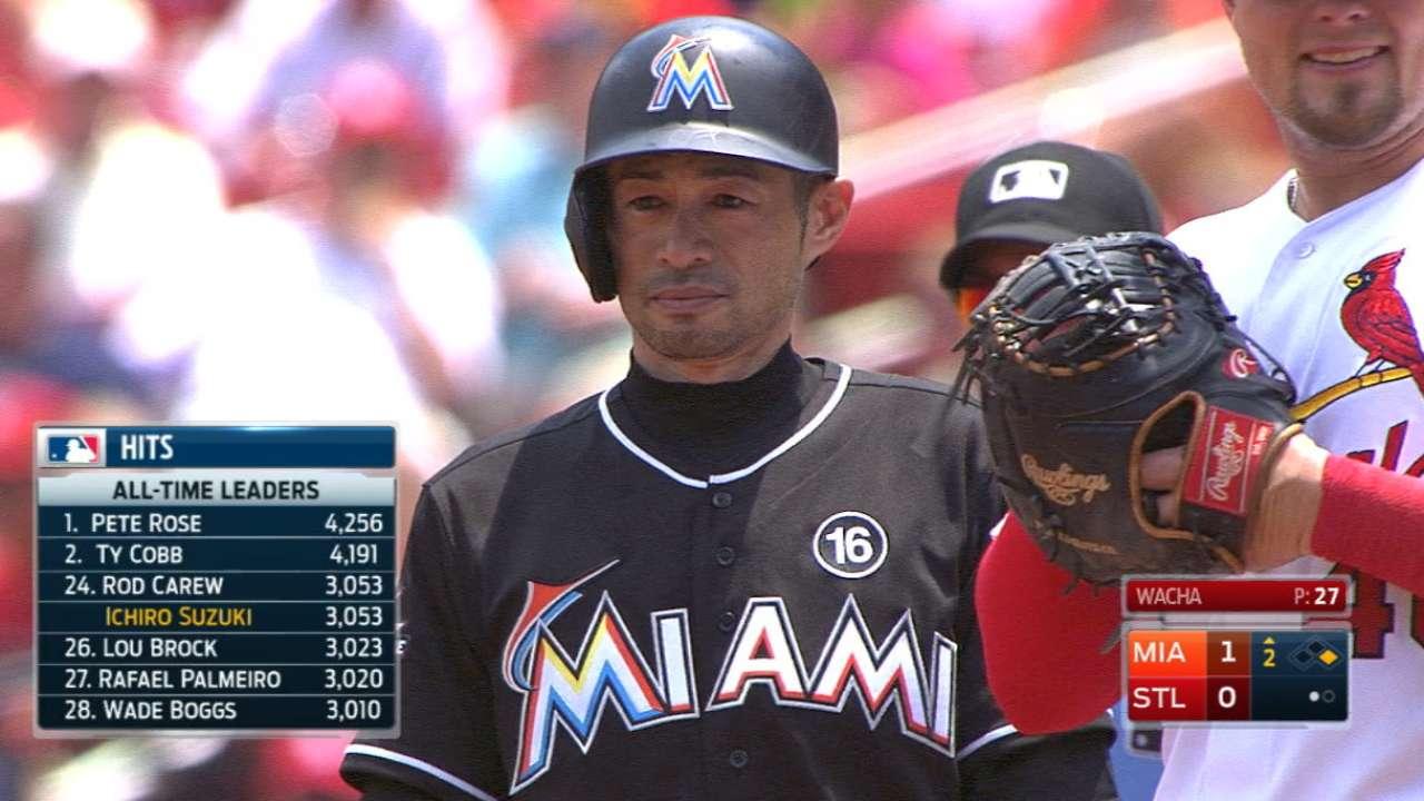 Ichiro ties Carew on hits list