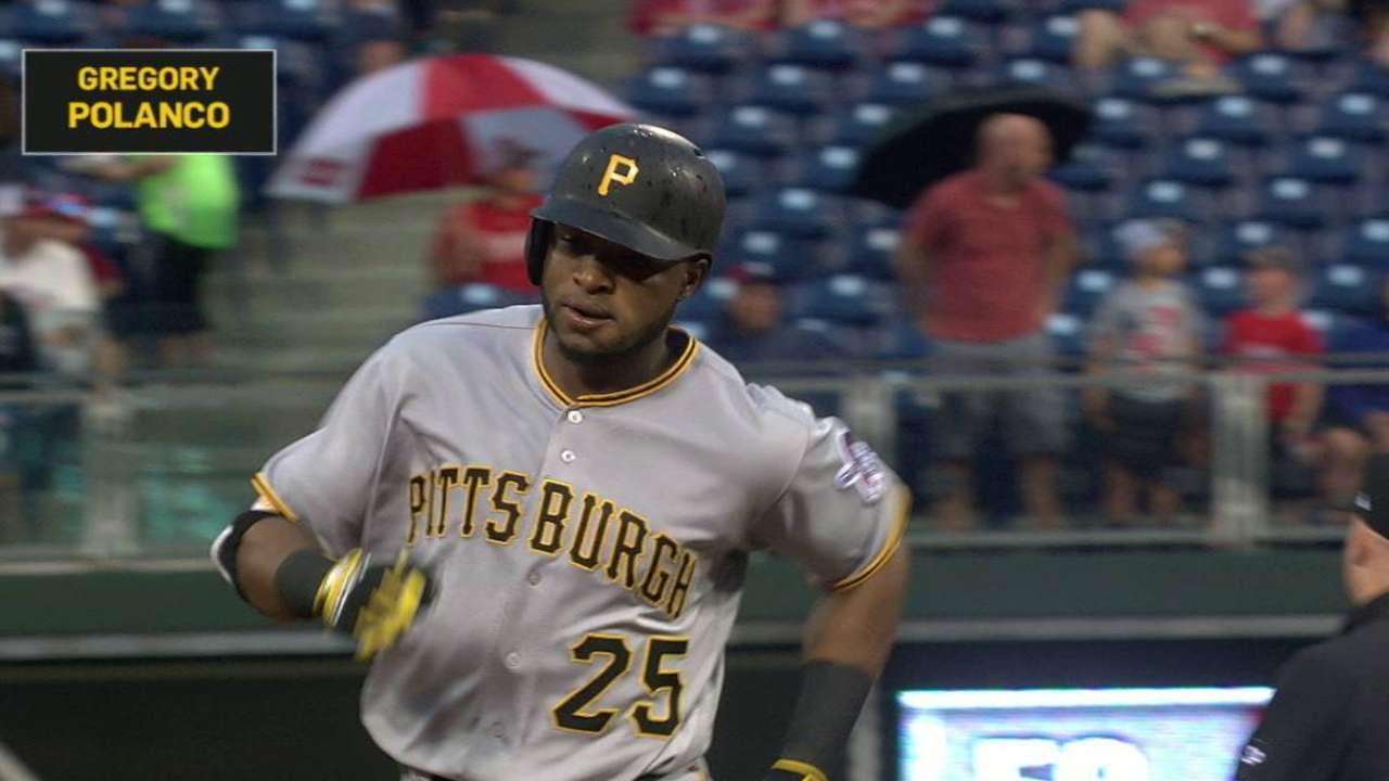 Polanco y Bell lideran victoria de Piratas en Filadelfia
