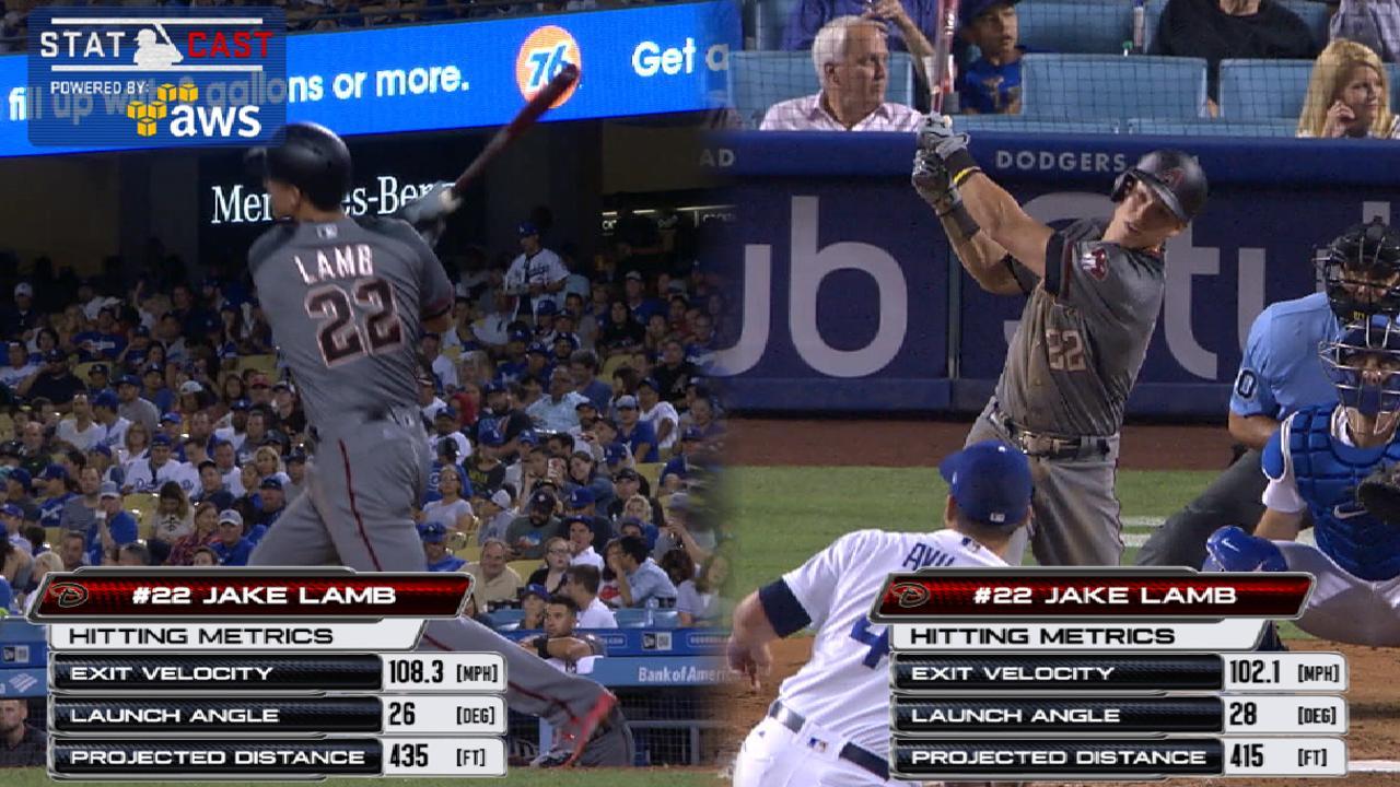 Statcast: Lamb's two home runs