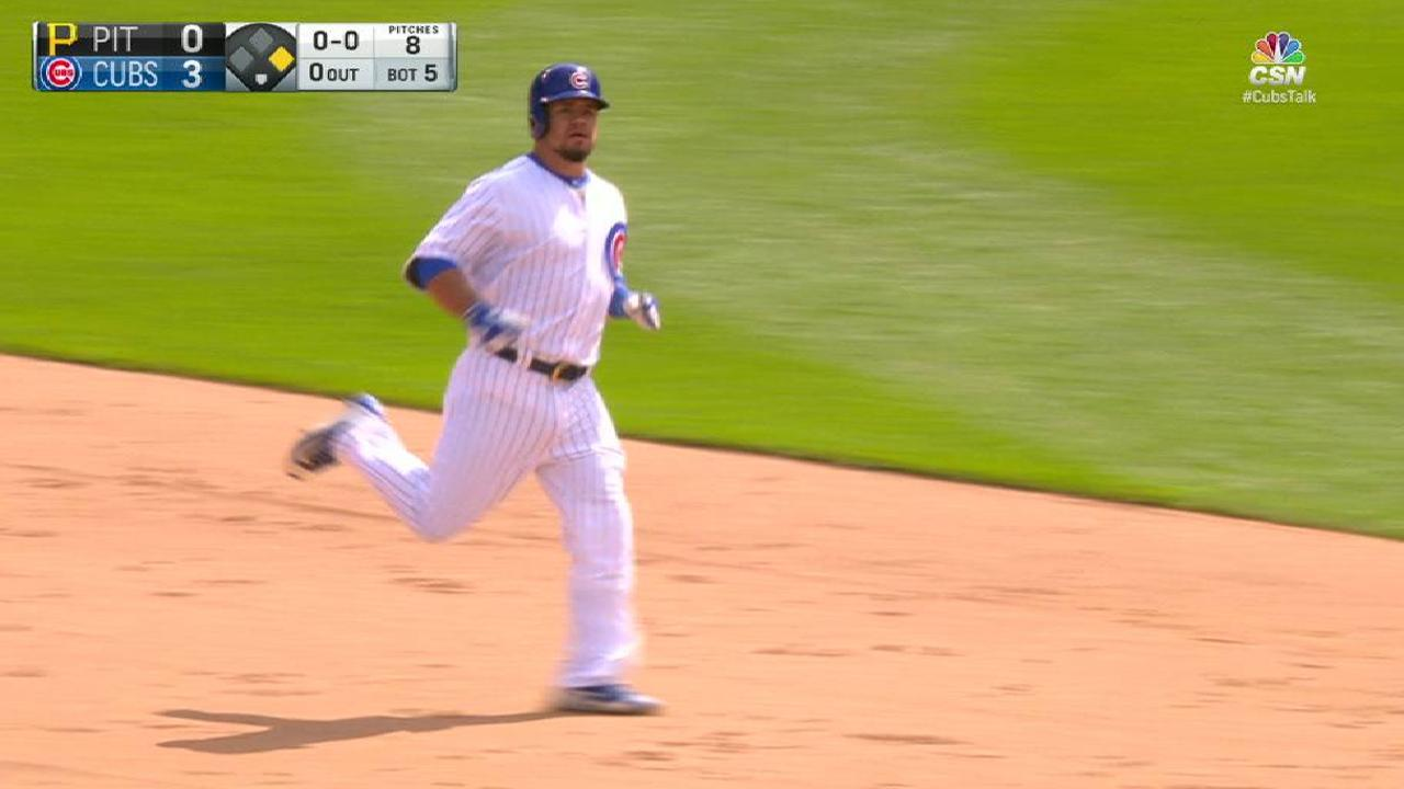 Schwarber's double to right