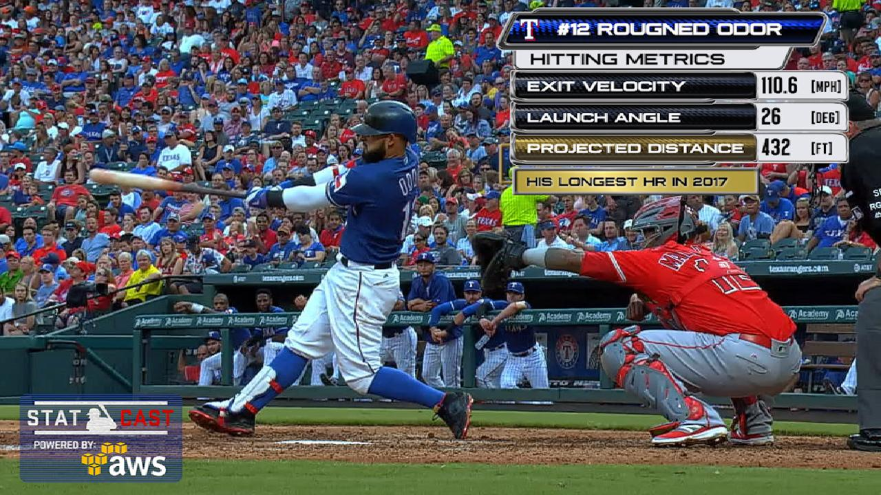 Odor homers during 3-hit game in his return