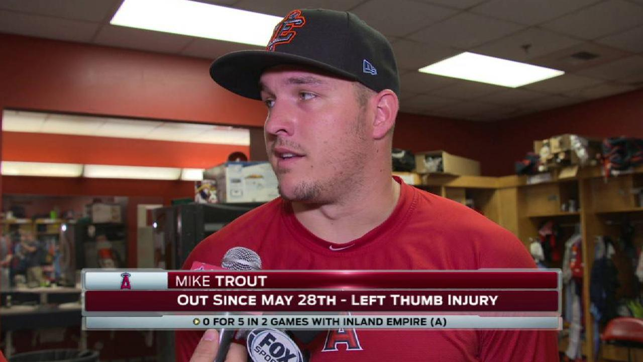 Trout on his injury, rehab games