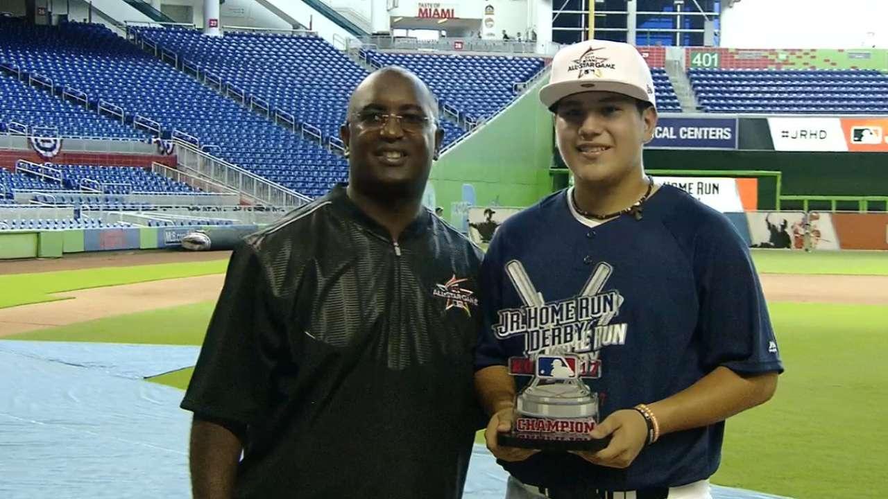 Juarez, Tyson win Junior Home Run Derby