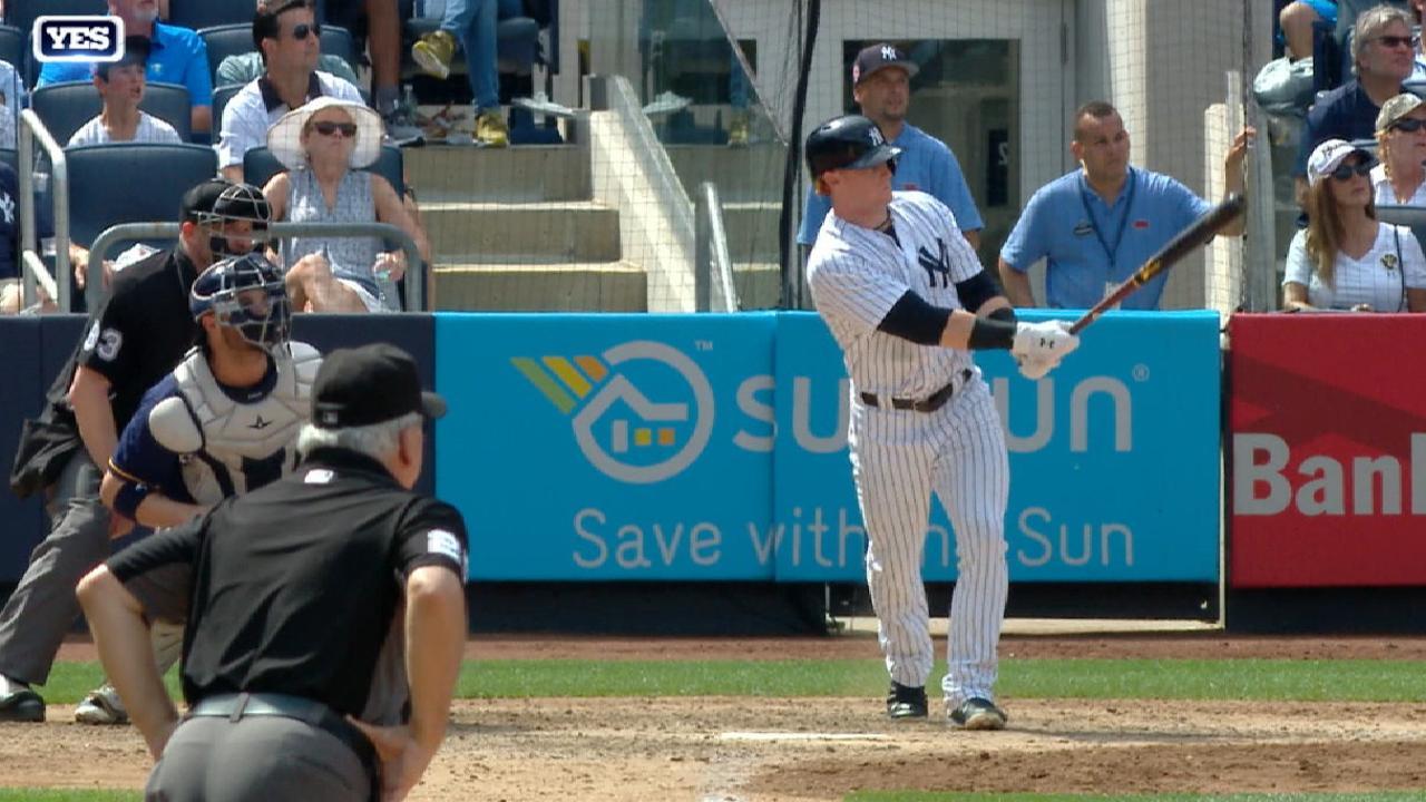 Clint Frazier y los Yankees dejan en el terreno a Milwaukee