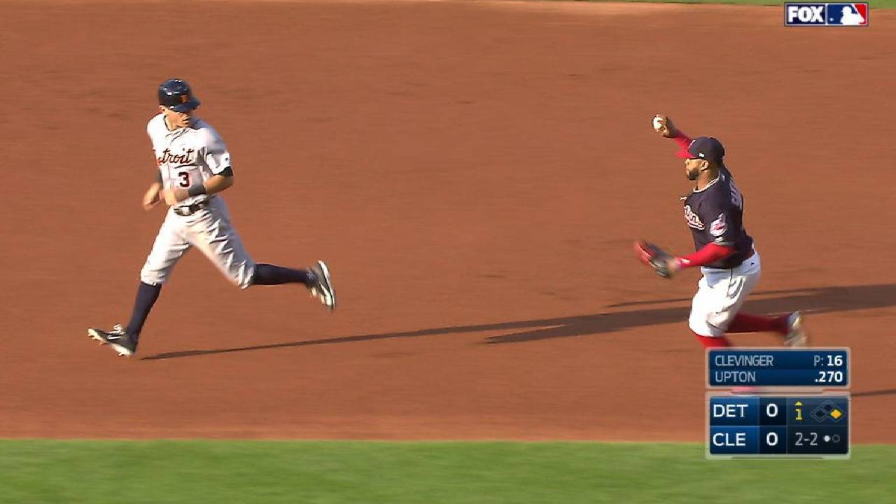 Clevinger's quick pickoff move