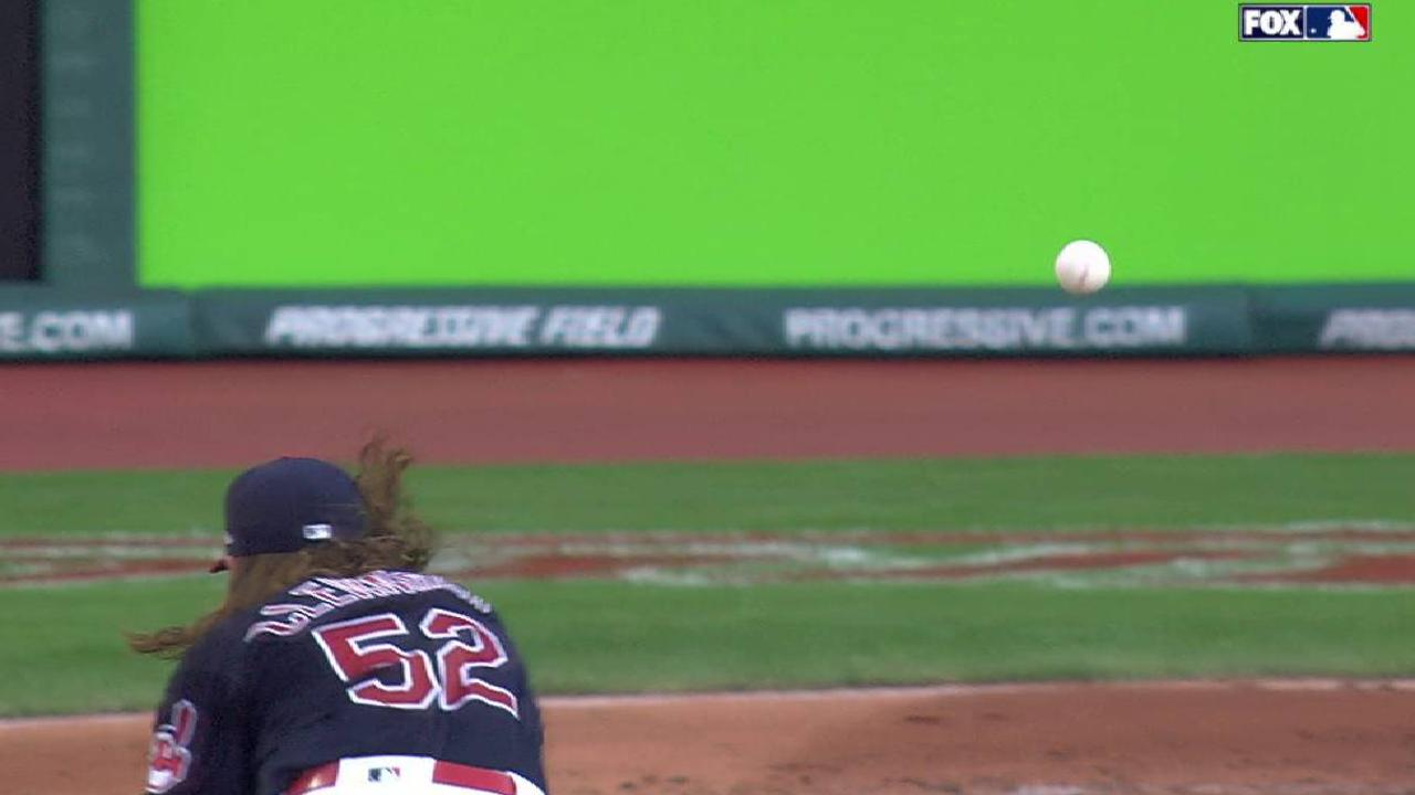Clevinger strikes out Mahtook