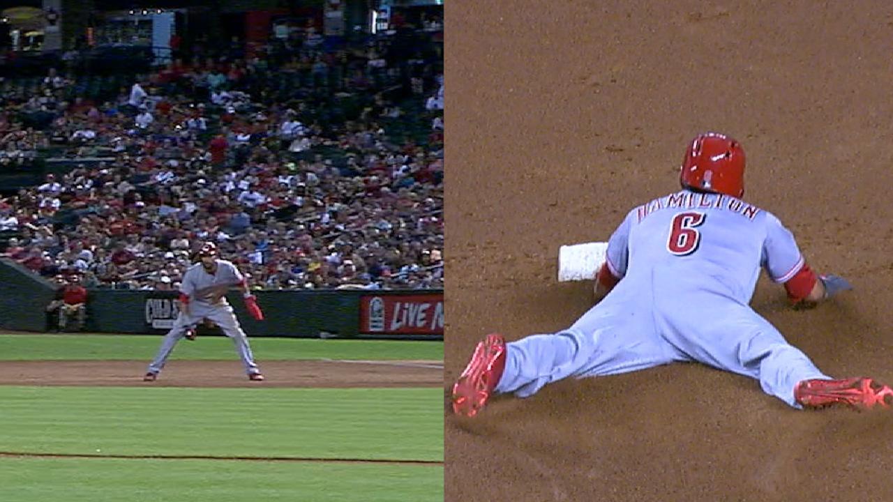 Hamilton's three stolen bases