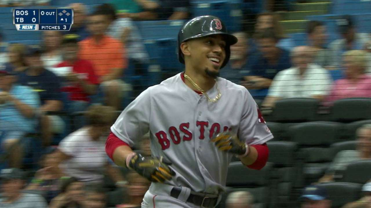 Betts' 11th career leadoff homer