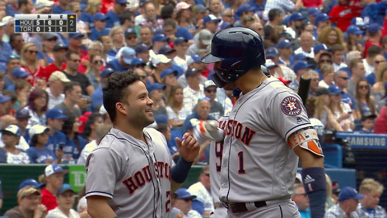 Astros bring across five in 2nd