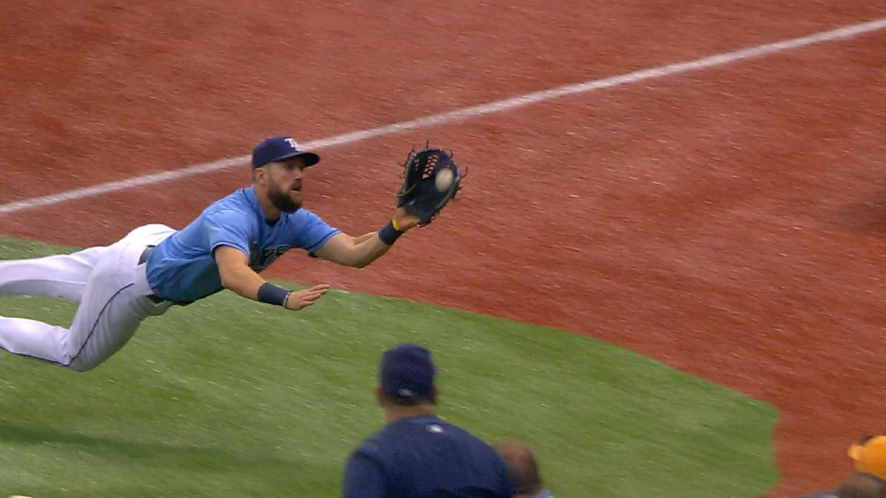 Outfield dazzles despite missing Kiermaier