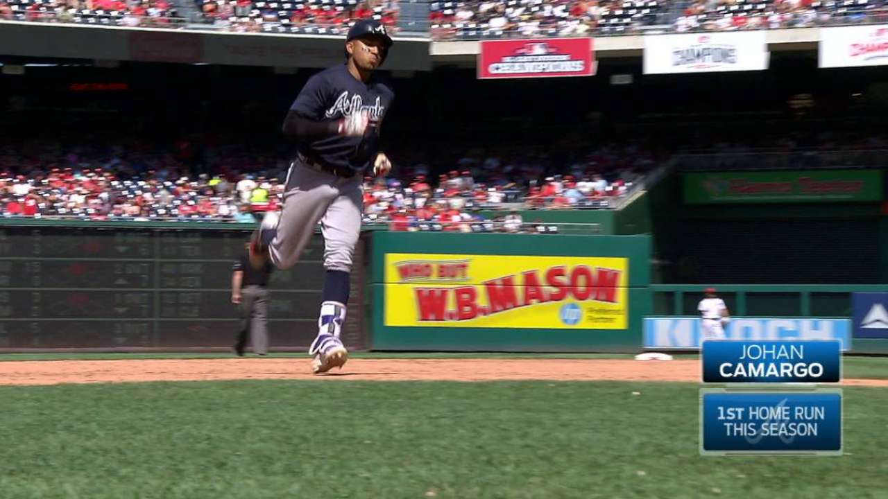 Camargo's first career home run