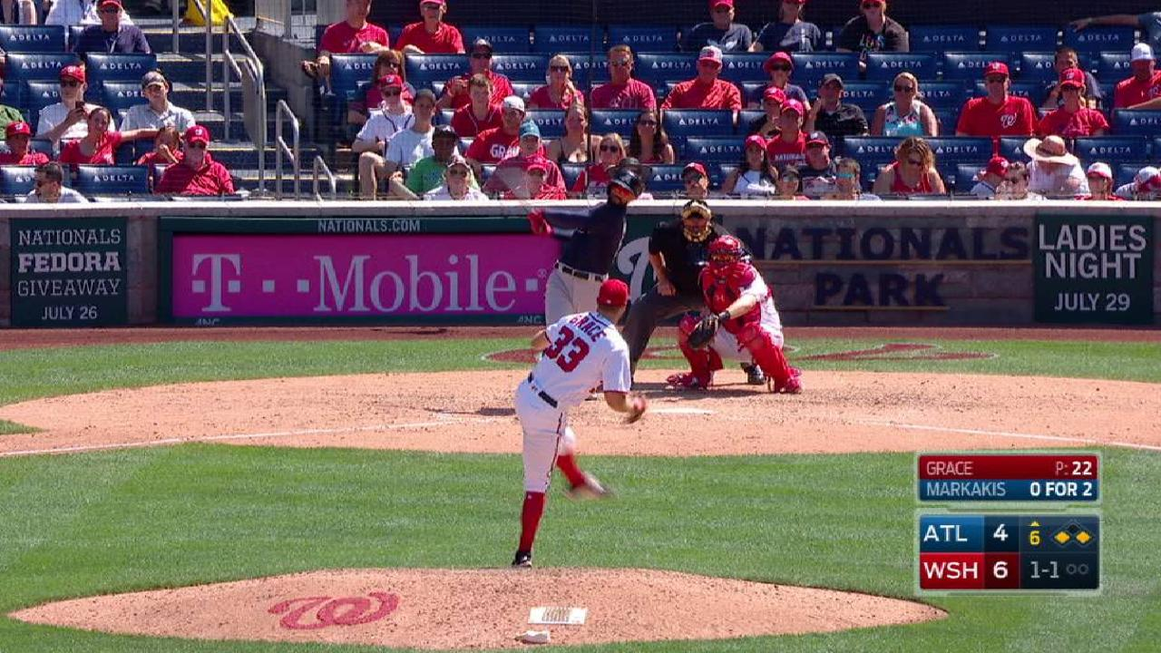 Freeman cuts Nats' lead to one