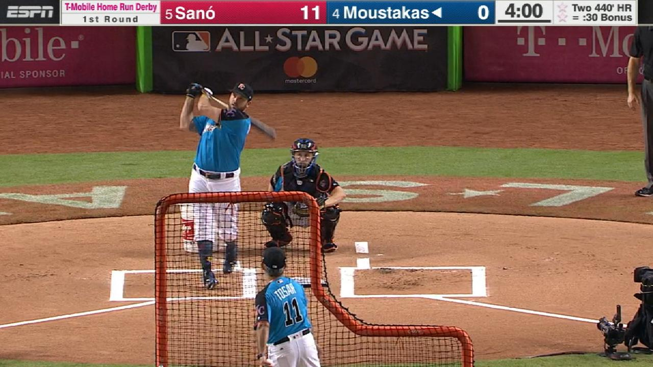 Moustakas' 10 homers in Round 1