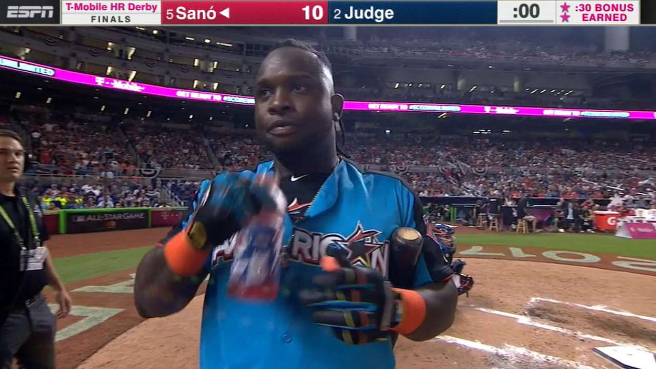 Sano struggles after late homer