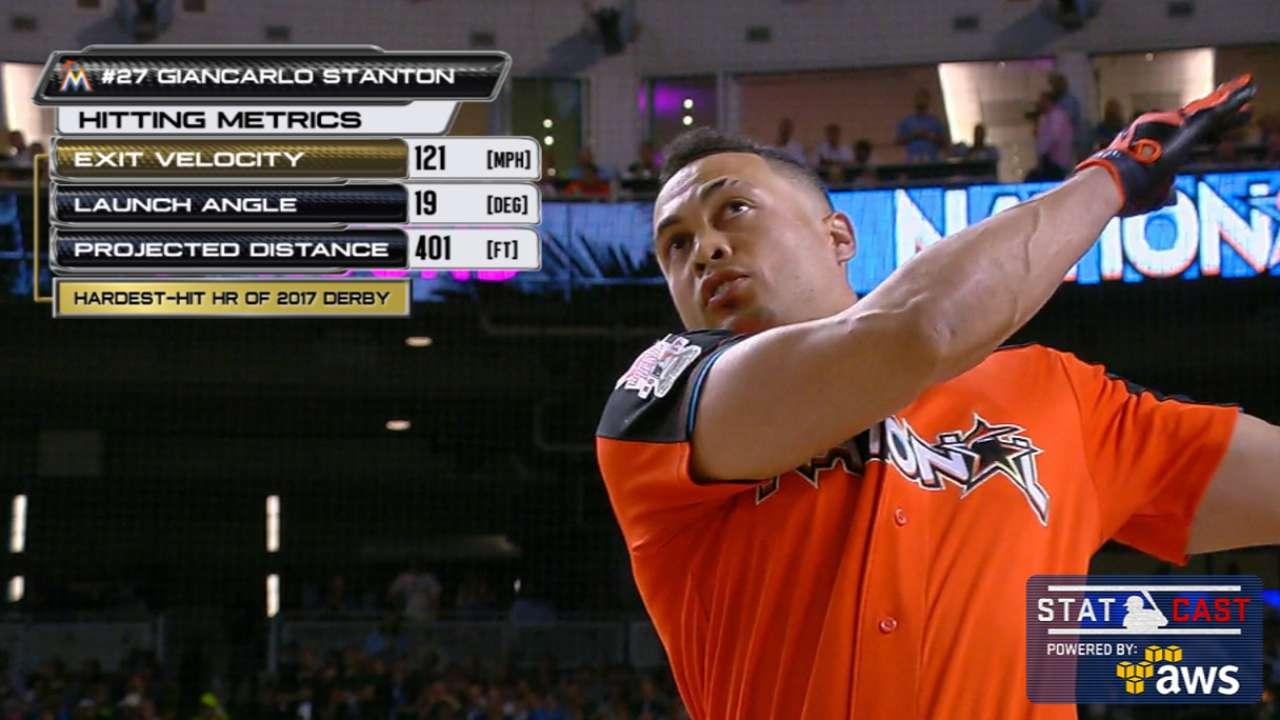 Statcast: Stanton's 121-mph HR