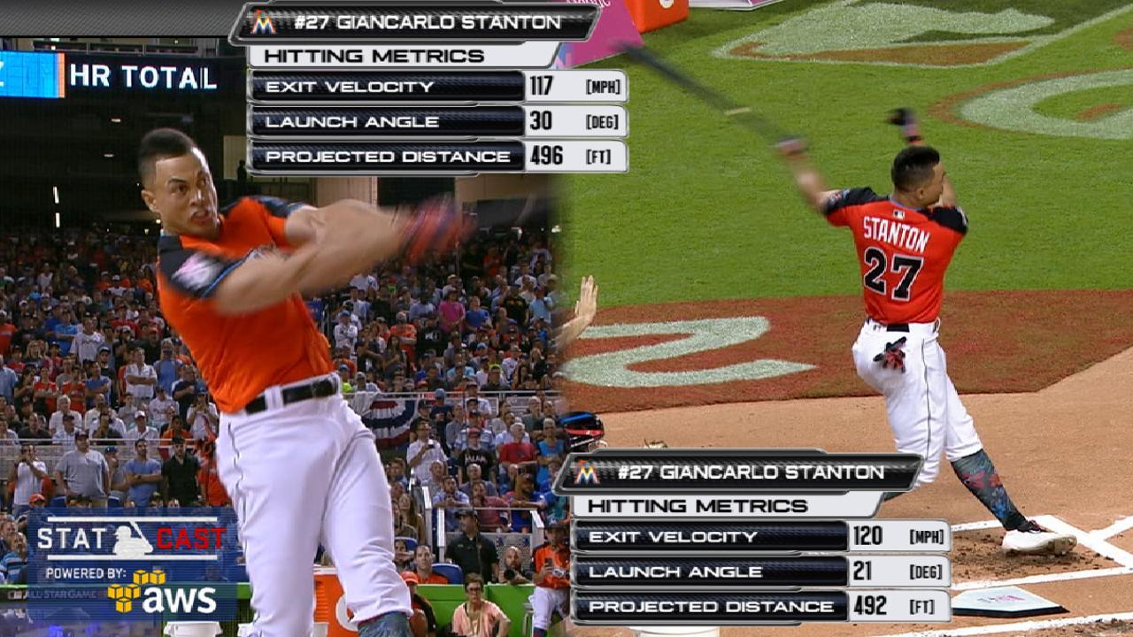 Statcast: Stanton's longest HRs