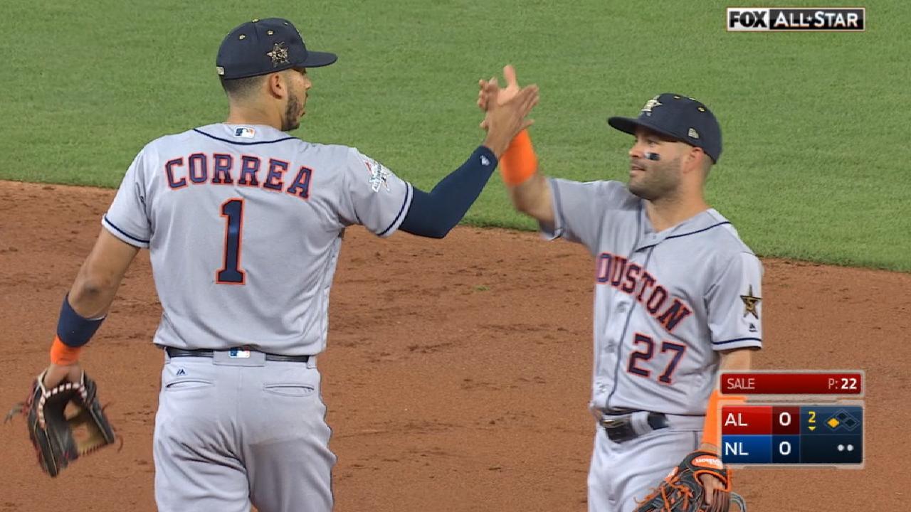 Altuve, Correa team up for DP