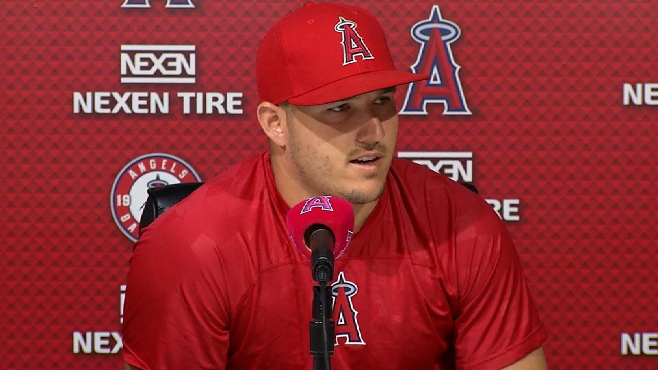 Trout back as Angels battle Rays