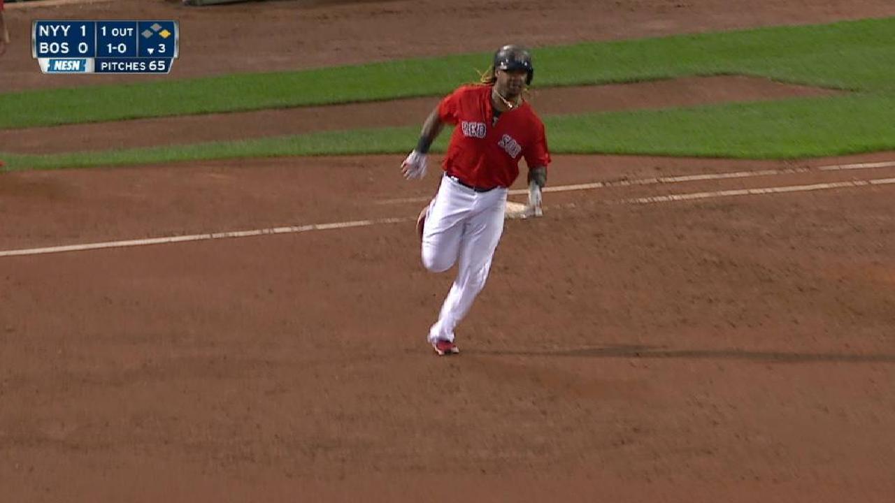 Hanley's two-run homer