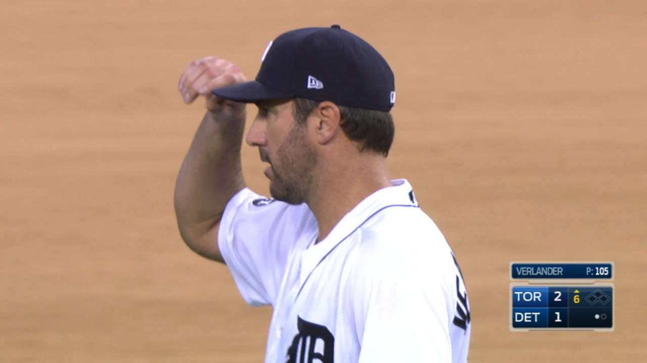 Verlander strikes out five