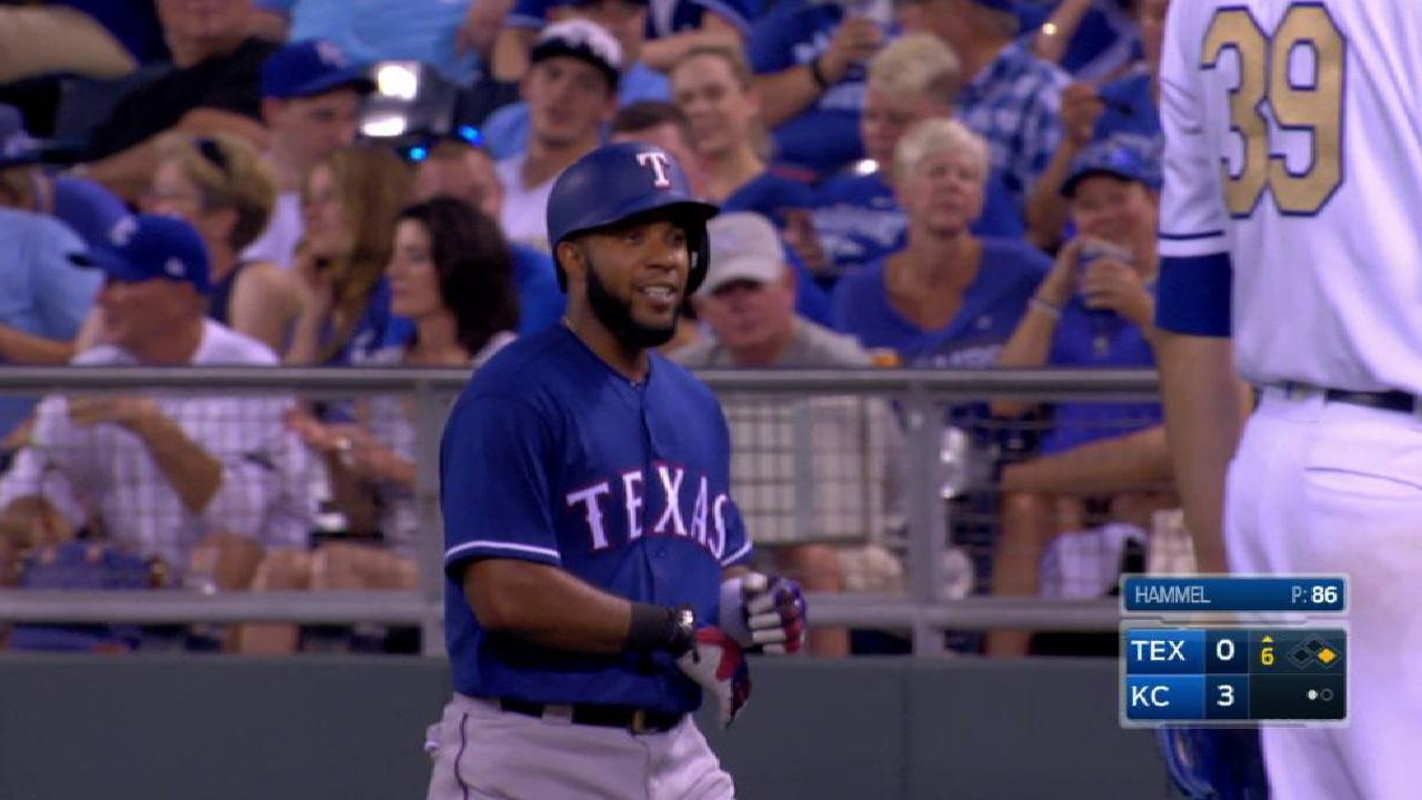 Andrus' single ends no-hit bid