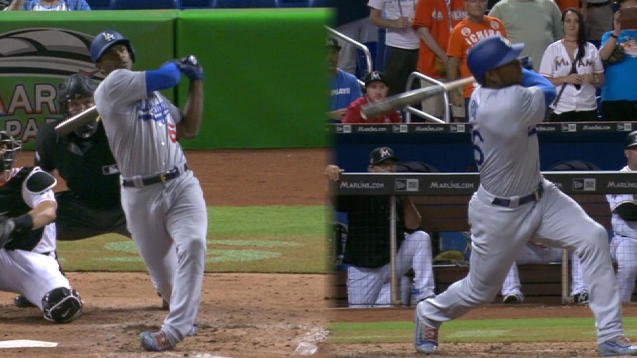 Puig belts Derby-worthy HRs from eighth spot