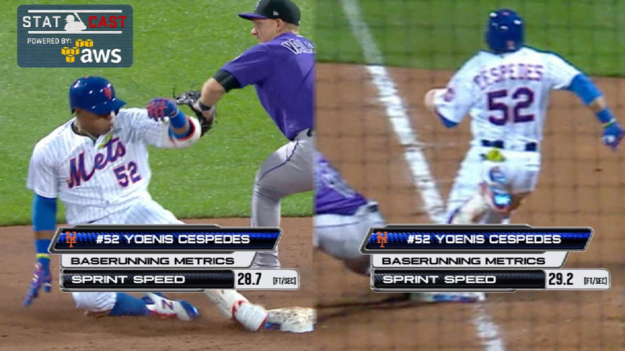 Statcast: Cespedes legs out hits