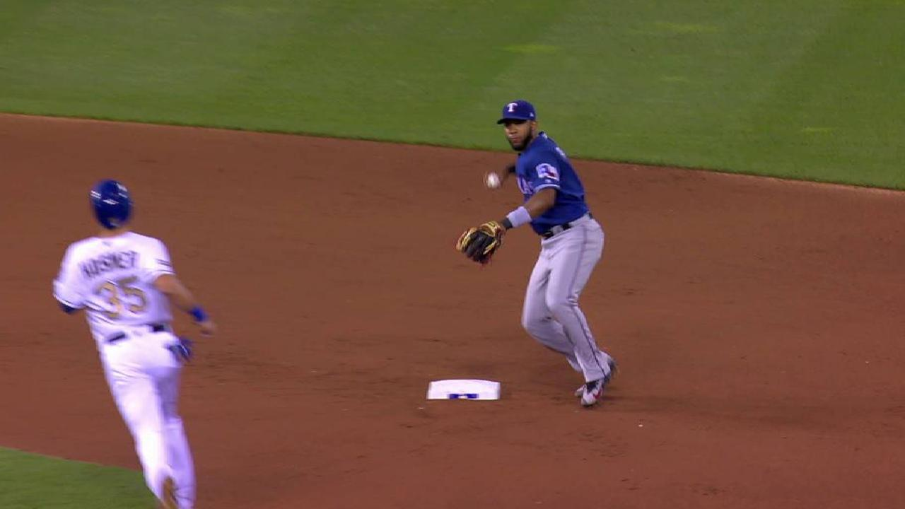 Odor starts nice double play
