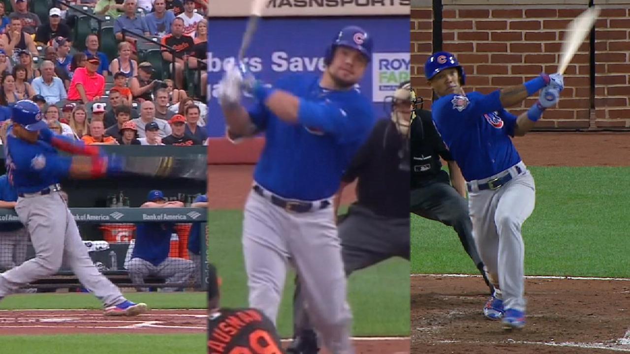 Cubs belt five home runs