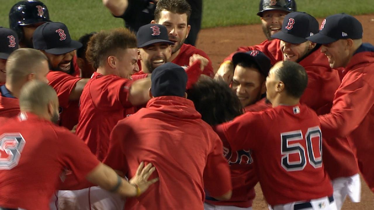 Boston's bases-loaded walk-off chaps Yanks