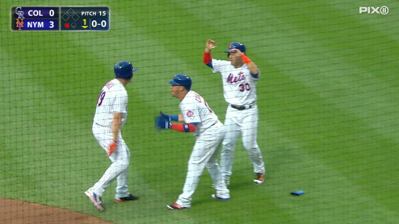 Bruce's three-run home run
