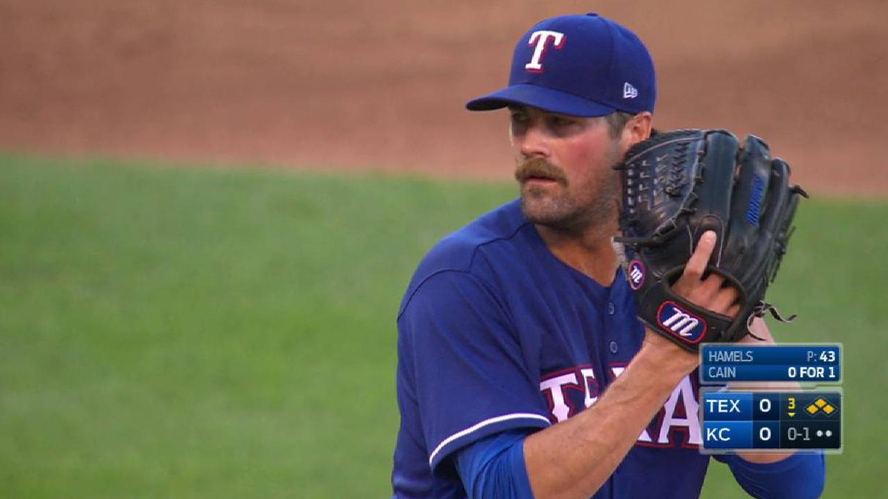 Hamels gets out of a jam