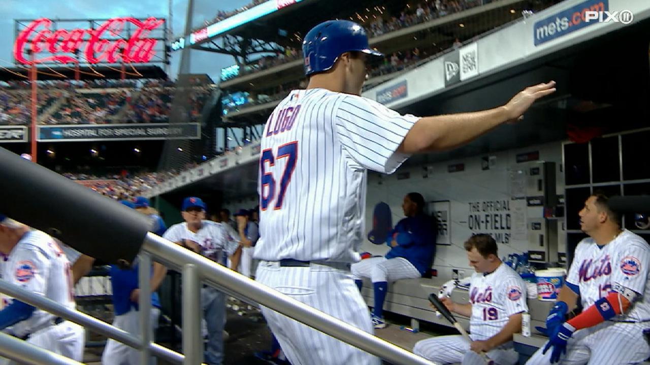 Lugo's first career home run
