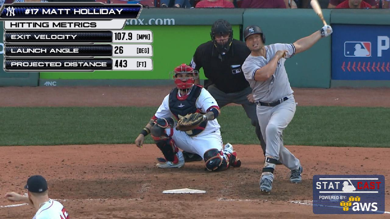 Statcast: Holliday's 443-ft shot