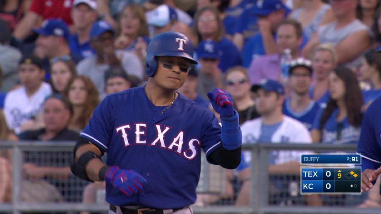 Tablazo de Choo en la 9na le da la victoria a los Rangers en Kansas City