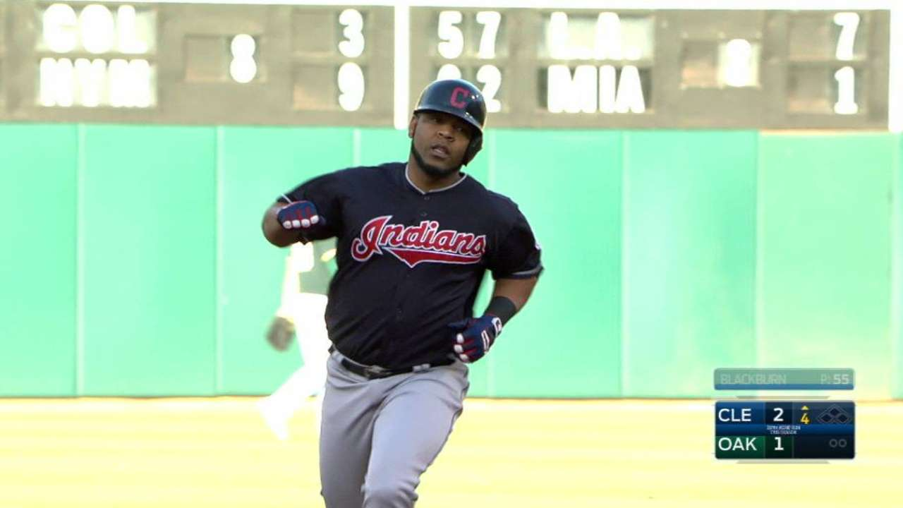 Edwin's HR, Kluber's 12 K's not enough vs. A's