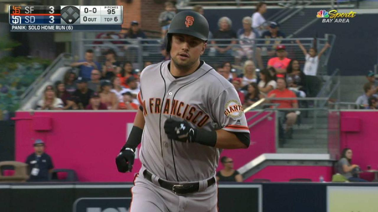 Panik's moonshot to right