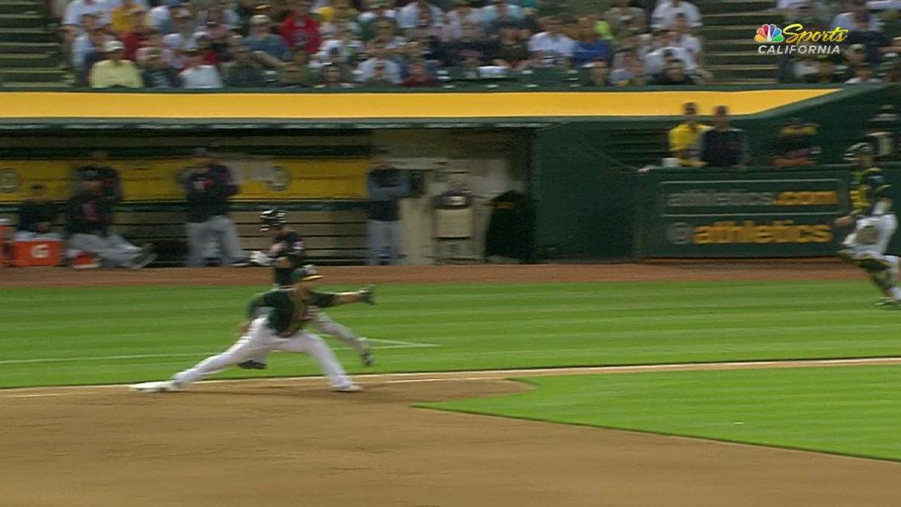 Semien nabs Gomes at first