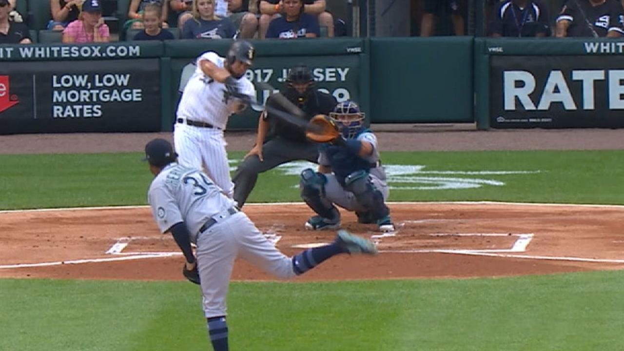Melky (4-for-5) puts bat, arm on display