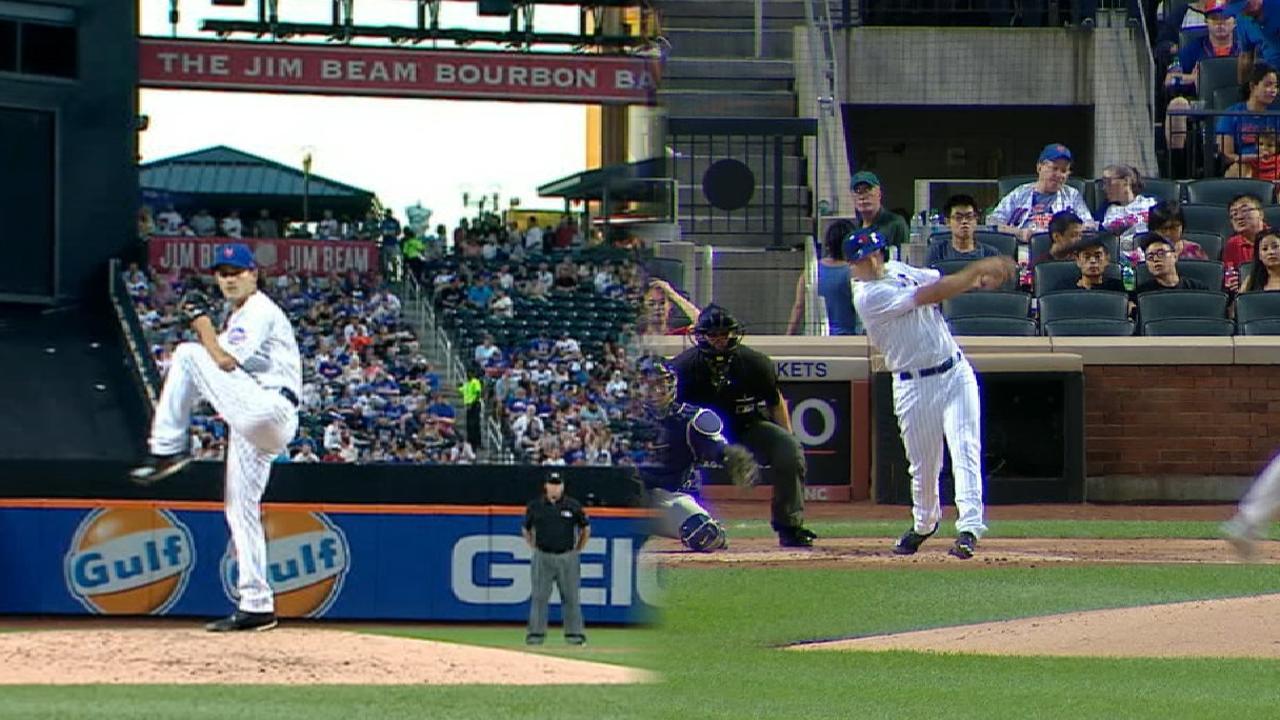 Lugo's arm, bat help Mets handle Rockies again