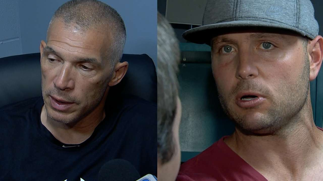 Girardi, Holliday on wacky play