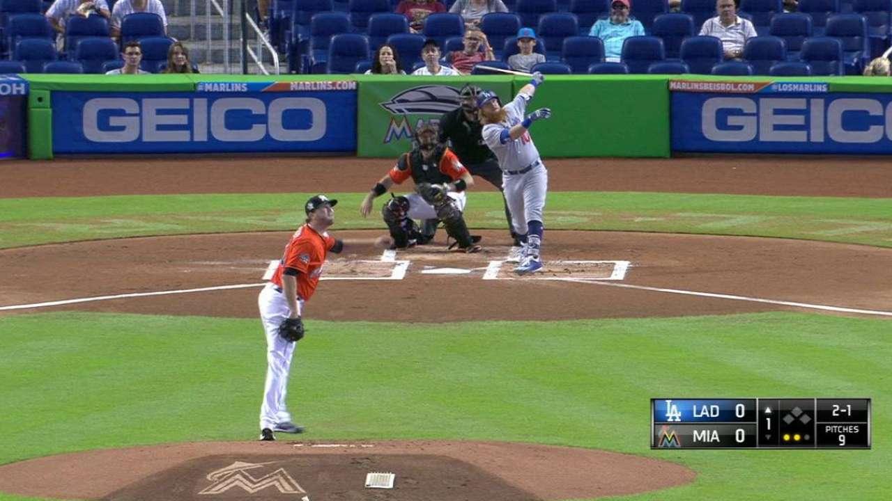 Dodgers barren serie vs. Marlins detrás de Turner, Hill